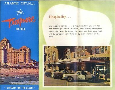 C/1955 Guide to The TRAYMORE HOTEL in  ATLANTIC CITYNJ