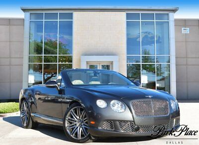 2014 Bentley Continental GT Speed GTC Speed Convertible 2-Door 2014 Convertible Used Twin Turbo Premium Unleaded W-12 6.0 L/366 Automatic AWD
