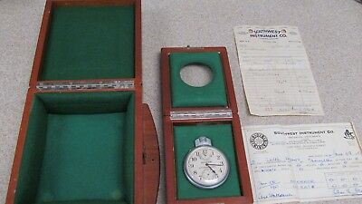 Hamilton Chronometer Watch Model 22 in Original Double Wood Box - Vintage - NICE