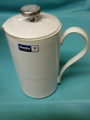 Natural Canvas Textured Cafetiere, Denby.