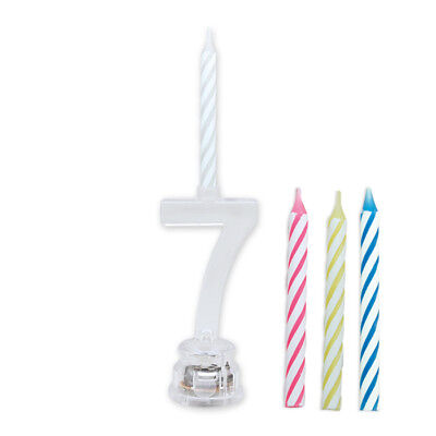 Portacandeline Luminoso Numero 7 Con Candele Incluse Assortite Feste E Party