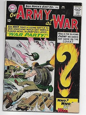 Our Army at War #151 (Feb 1965, DC) First Enemy Ace