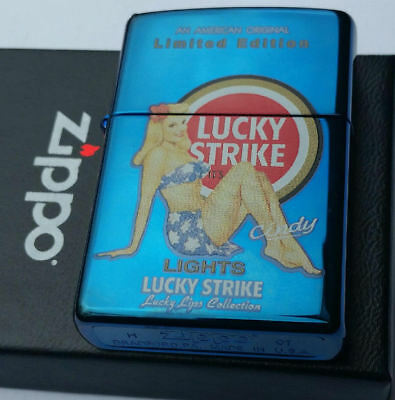 Zippo Lucky Strike Pin Up Girls LIMITED EDITION Lucky Lips ULTRA RARE Cindy 2007