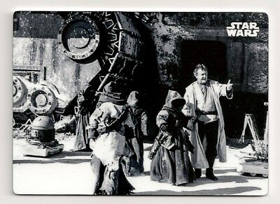 2018 Topps Star Wars Black And White #18 Practical Selections 1/1 Metal Jawas