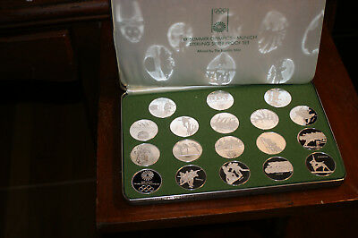 Olympic Coin Set - 1972 Olympics - Munich Germany. Sterling Silver Proof Set.