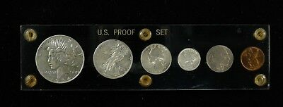 1934 U.s. Mint Set 6 Coin Set Includes Silver $, Silver 50C, Silver 25C, And 10C