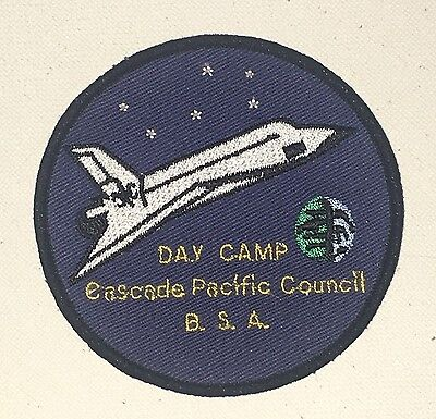 Boy Scouts Cascade Pacific Council Day Camp Patch - Space Shuttle