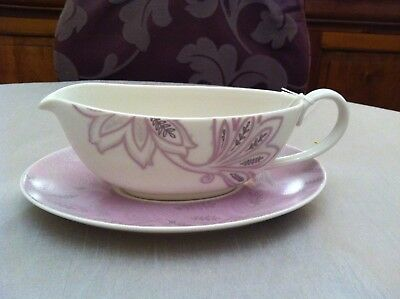 Denby Monsoon Chantilly Sauce Boat and Stand  *New*