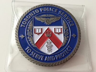 Toronto Police Service Challenge Coin - Serve & Protect CN Tower NEW Free Ship