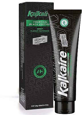 Activated Carbon Charcoal Coconut Whitening Black Toothpaste Kalkaire Bamboo