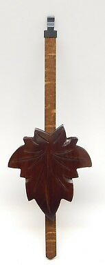 "Cuckoo Clock Pendulum 3"" Maple Leaf Style NEW Brown German Made 8 3/4"" Length"