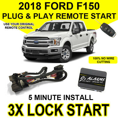 2018 Ford F-150 Remote Start Plug and Play Easy Install Truck F150 3X Lock