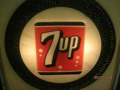 Seven Up Lighted Advertising With Spinner Movement
