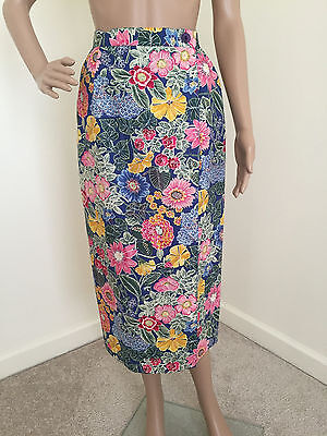 """""""Talbots"""" Beautiful US Made Vintage Fully Lined Linen/Cotton Wrap Skirt 4 EUC!!!"""