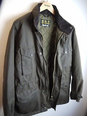 Barbour Men's Wax Sapper Jacket, Olive Green, New Without Tags, Large