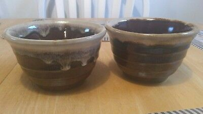 vintage Monmouth dripstone beehive bowls 1940s or 50s