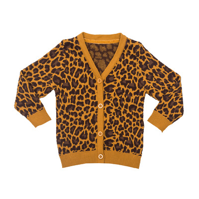 Nwt Rock your baby kid Leopard knit cardigan size 5