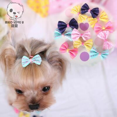 Pet Grooming Bows Small dog hair accessories grooming hair bows with clips puppy