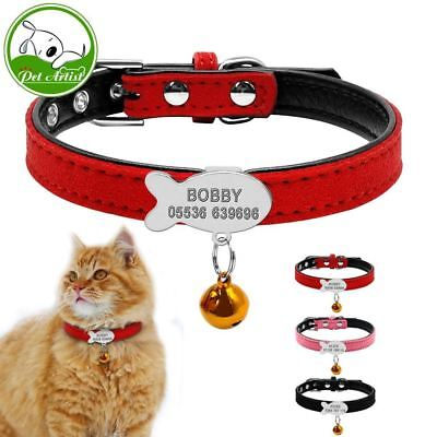 Customized Soft Padded Dog Collar Personalized Cat ID Tag Free Engraving Name Ph