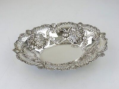 Beautiful Victorian 30cm SILVER DISH Sheffield 1898 for fruit or sweets Sterling