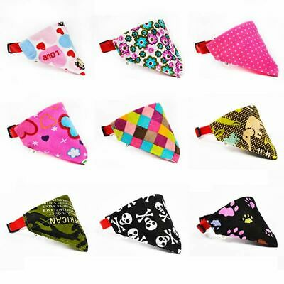1Pc Cute Lovely Pet Dog Canvas Scarf Collar Adjustable Puppy Triangle Bandana Hi