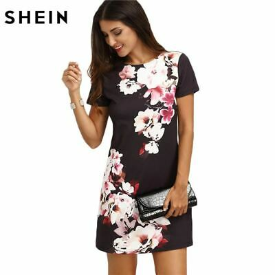 98032d4654 SHEIN 2017 Summer Print Dress Casual Dresses for Women Ladies Multicolor  Floral
