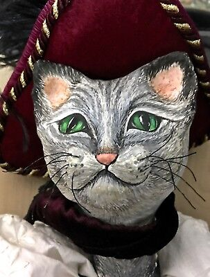 Beautiful Large 2 Ft Obviously Hand-Made Puss 'n' (In) Boots Puppet Marionette