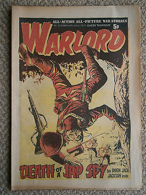 Vintage Warlord Comic 22nd February 1975 No 22 All Action Picture War Stories