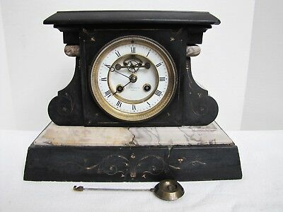 Antique N. Matson & Co Chicago French Moverment Mantel Clock.