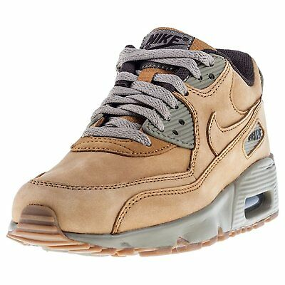 Nike Air Max 90 Winter Premium Boys Youth Kids Bronze Baroque Brown 943747 700 7