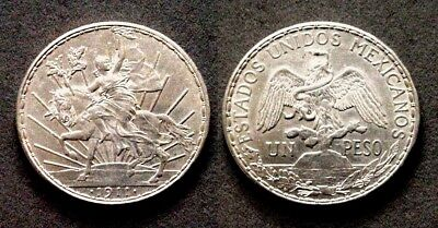 Decent About Uncirculated 1911 Mexico 1 Peso Caballito