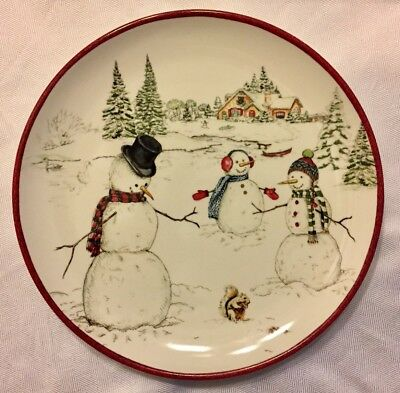 """SNOWMAN By WILLIAMS SONOMA 10 1/2"""" DINNER PLATE Quantity Available NEW STOCK"""
