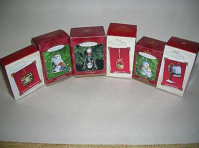 Lot of 6 Hallmark Keepsake Holiday Christmas Ornaments 1999 - 2003 In Boxes