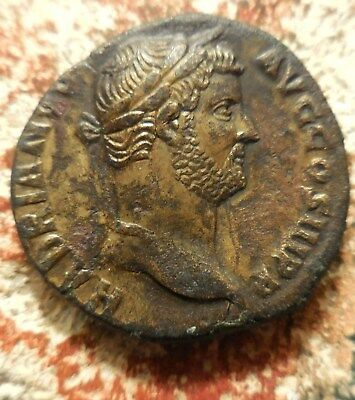 EF Bust of Hadrian on this AS or Dupondius, 25 mm, 12.04 g, FELICITAS P R?