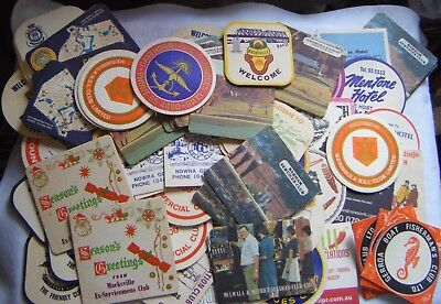 Vintage drink Coasters.Over 70 Pubs,RSL ,Bowling,Leagues & Social Clubs