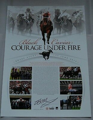 Black Caviar Peter Moody Hand Signed Courage Under Fire Limited Print Winx Diva