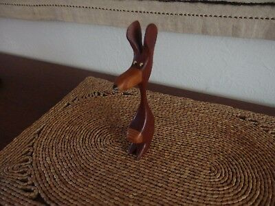 Vintage Mid Century Danish Knud Albert Teak Animal Figurine - Rat?