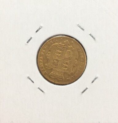 1861 GB half sovereign FINE  - refer to pictures