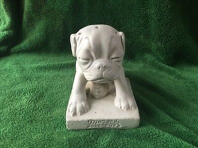 Vintage Morses Pure Pops Chalkware Pug Dog, Candy Store Counter Top Display NR !