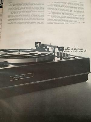 1968 Vintage Miracord 50H Turntable ~   Ad  Hi Fi  Advertisement ~ Vinyl Records