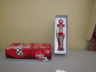 1998 Dale Earnhardt #3 Coca Cola Team Gas Pump Bank 1 of 6,000 MIB 1:16 Scale