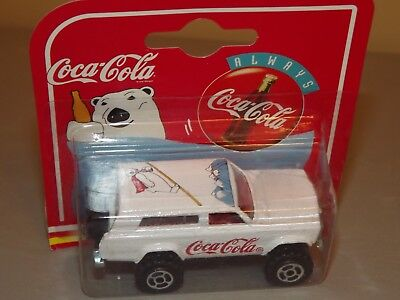 1997 Majorette Coca Cola White Truck/Jeep With Polar Bear on Top MOC