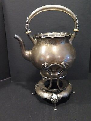 1896 Gorham Sterling Silver Teapot & Stand KETTLE 1 3/8 PINTS 4555 scarce find!
