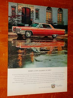 1965 Cadillac Sedan Deville In Red With Fine American Home Ad - Vintage 1960S