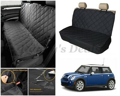 Quilted Pet Dog Car Rear Seat Cover Protector For Mini Cooper S 06 - 16