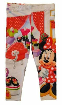 Disney Minnie Mouse Girls Toddlers Printed Elastic Waist Leggings Multi-color 2T