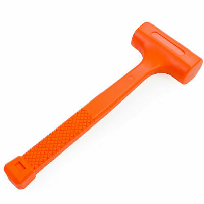 "1LB Dead Blow Hammer | Mallet 11-3/4"" Length Neon Orange"