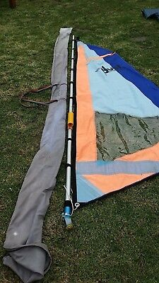 Retro Adjustable Learners Windsurf Mast-and sail