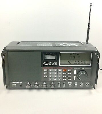 Grundig Satellit 800 Millenium Radio Shortwave AM FM W/ AC Adapter Sounds Great