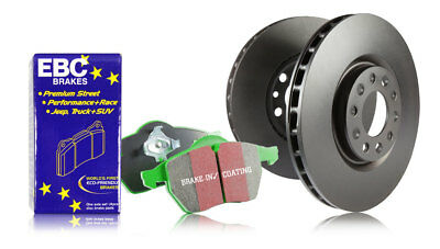 EBC Rear Brake Discs & Greenstuff Pads Jaguar S-Type 4.2 (294 HP) (2002 > 06)